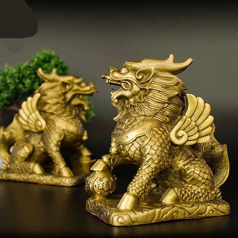 China/'s Mini Brass Copper Sculpture Pray Buddha Feng A1L9 48*30mm Gift shui X5C5