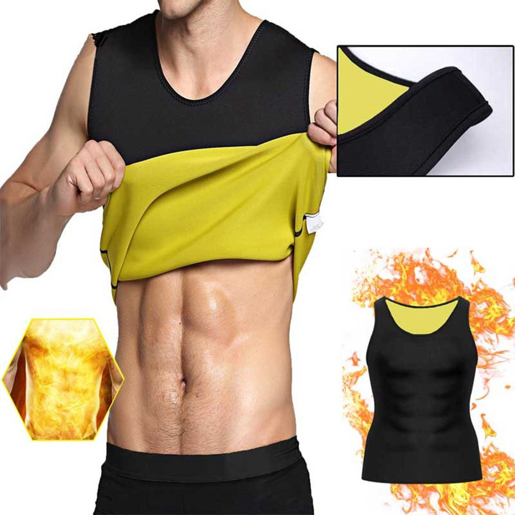 Sleeveless Slimming Belt Belly Men Slimming Vest Body Shaper Abdomen Fat Burning Shaperwear Waist Sweat Corset Weight Loss