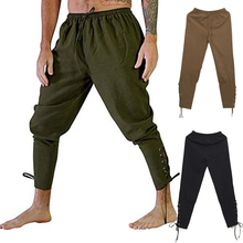 Cosplay Halloween Medieval Renaissance Pirate Loose Multicolor Leg Bandage Pants Viking Warrior Clothes Sports Quick Dry