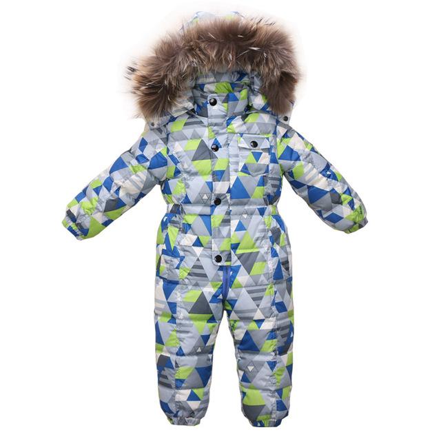 2 ~ 5 Años Snowsuit Invierno Mameluco Bebé Abrigo Infantil Ropa de Las Muchachas Al Aire Libre En General para los Bebés Onesie Infantil Para Niños mono