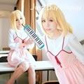 Express! Anime Cosplay Costume Your Lie in April Kaori Miyazono Custom Dress Free Shipping
