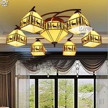 Средиземноморский местности лося лампы фары более пастырской гостиной лампа ресторан Потолочные светильники Высококлассные атмосферу