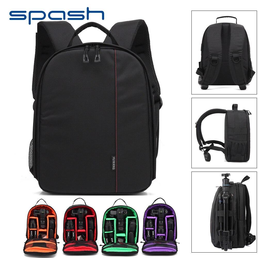 spash Multi-functional DSLR Camera Bag Shoulder Backpacks Video 12 Laptop Case Removable Interior Dividers Outdoor Photography