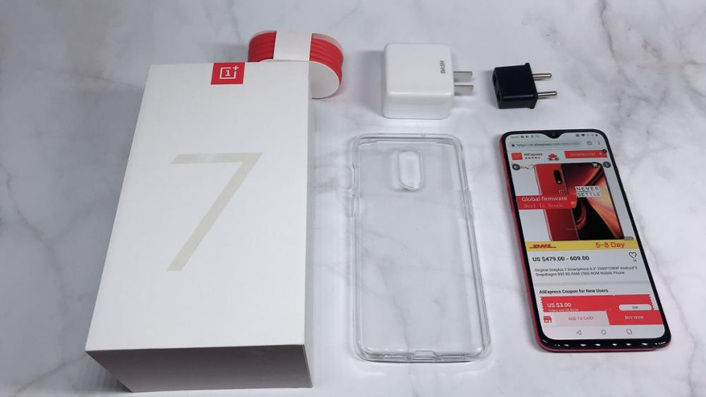 Oneplus d'origine 7 Smartphone 6.2 ''2340*1080 P Android 9 Snapdragon 855 8G RAM 256G ROM téléphone Mobile - 6