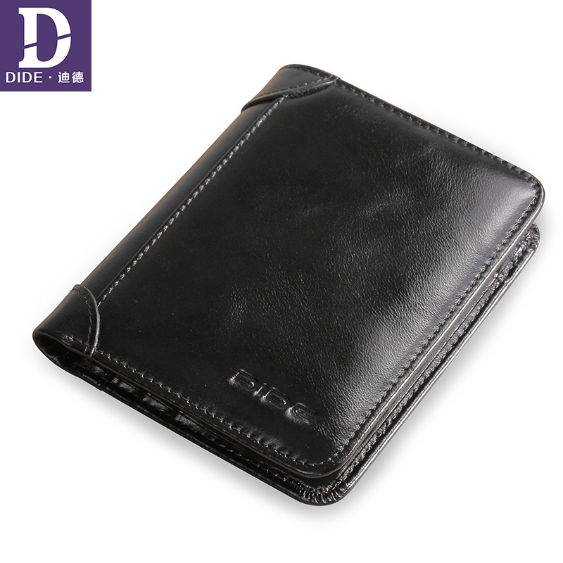 DIDE 100% Cow Mens Wallet Leather Genuine Wallets Male Purse wallet for credit cards carteira masculina original brand ivotkova top quality cow genuine leather men wallets fashion splice purse dollar bag price carteira masculina free shipping gift