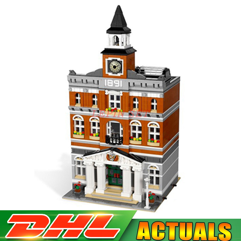2018 New In Stock 2859Pcs 2016 LEPIN 15003 Kid's Toys The town hall Model Building Kits Building Blocks Bricks as Gift free dhl shipping lepin 15003 new 2859pcs creators the town hall model building kits blocks kid toy gift