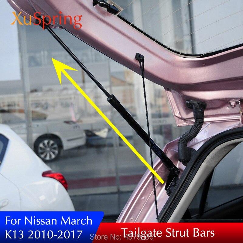 Barres de contrefiche à ressort de soutien de levage de porte arrière pour NISSAN MICRA March IV (K13) hayon 2010-2017