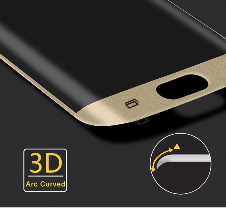 Premium 3D Full Coverage Arc Curved Tempered Glass Screen Protector For Samsung Galaxy S7 Edge G9350 Explosion-proof Film