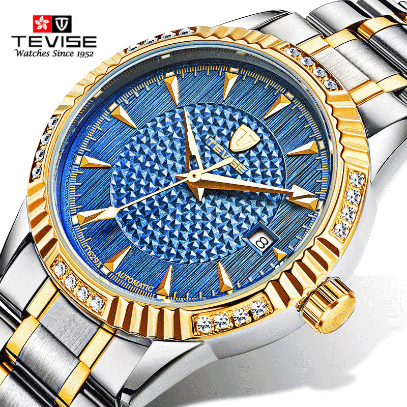 Tevise Luxury Brand Watch Mechanical Watch Men Business Wristwatches Automatic Watches Men Clock Relogio Masculino reloj T629A relogio masculino tevise luxury brand watch men tourbillon automatic mechanical watches moon phase skeleton wrist watch clock