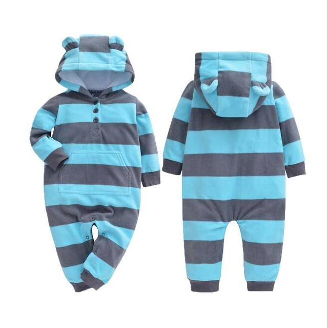 Comfortable Hooded Winter Rompers for Babies
