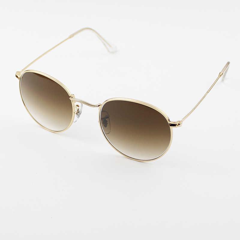 70b9a65fe Bolo.ban 3447 round flat lens sunglasses women men 50mm glass lens metal  frame mirror