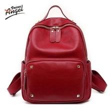 Ангел голоса Брендовые женские рюкзак натуральная кожа школьные рюкзаки для девочек-подростков сумка большая емкость дорожные сумки 2017