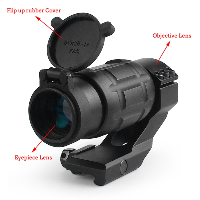 Tactical 3x25MM Magnifier Riflescope Optics Rifle Scope fit 20MM Rail w Protect Cover for Airsoft Hunting (18)