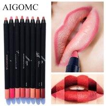 Aigomc 8 Colours Lipstick Lip Liner Pencils Waterproof Pencil Long Lasting Pigments Nude Color Brand Lipliner Makeup Pen