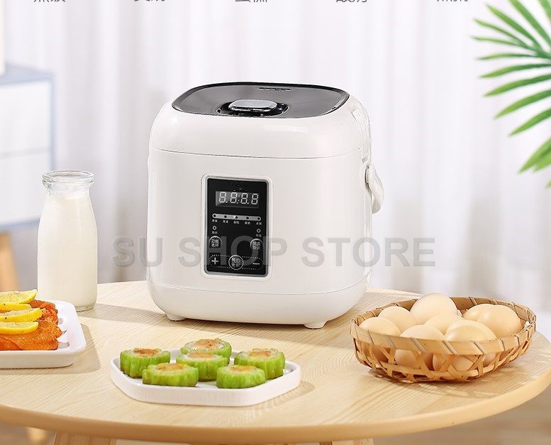 2L mini rice cooker small Steamer Multifunction cooking Pot Electric insulation heating cooker 1-2 people2L mini rice cooker small Steamer Multifunction cooking Pot Electric insulation heating cooker 1-2 people