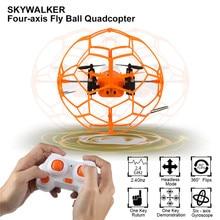 Горячая Мини Drone Helic Макс Sky Walker 1340 2.4 ГГц 4CH Летать мяч RC Quadcopter 3D Флип Ролик безголовый Беспилотный Вертолет игрушки
