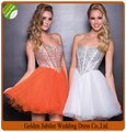 Elegant Crystal Sweetheart Tulle Ball Gown Puffy Cocktail Dress Mini 2016 Homecoming Dress Short Prom Gowns vestido de renda C05