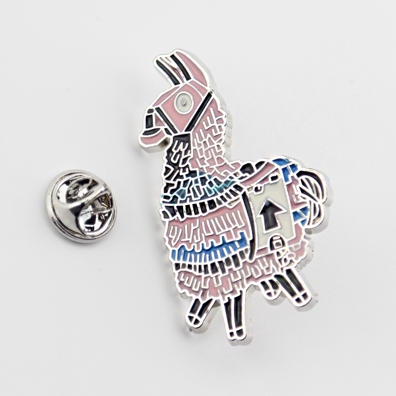 Dongmanli Loot Llama Soft Enamel Pins Cartoon Brooch Badges for Clothing Tie pins Clothing backpack pins 1pc for women's gift
