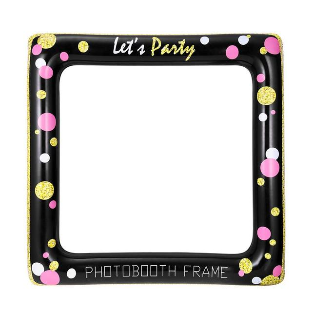 Inflatable Frame Photo Booth Props Selfie Picture Frame Party Supplies for Birthday Bridal Shower Baby Shower Wedding Party