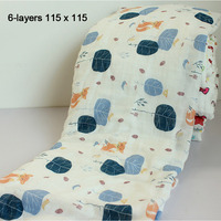 Newborn Thickening Blanket Swaddling 6 Layers Soft Cotton Baby Toddler Bath Towels Multifunction Winter Sping Infant