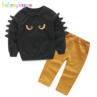 2PCS 0 5Years Spring Autumn Children Clothing Set Cartoon Casual T Shirt Pants Baby Boys Outfit