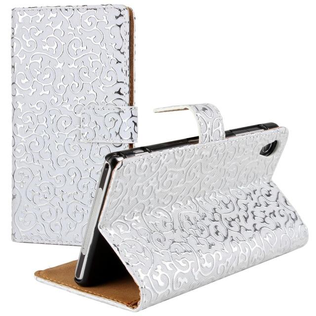 Luxury Z1 Case Wallet Bling Flip Leather Case For SONY Xperia Z1 L39h Fashion Rhinestone Phone Bag Case for Sony Xperia Z1 Cover