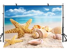 150x220cm Starfish Conch Backdrop Beach Nature Photography Background for Camera Photo Props