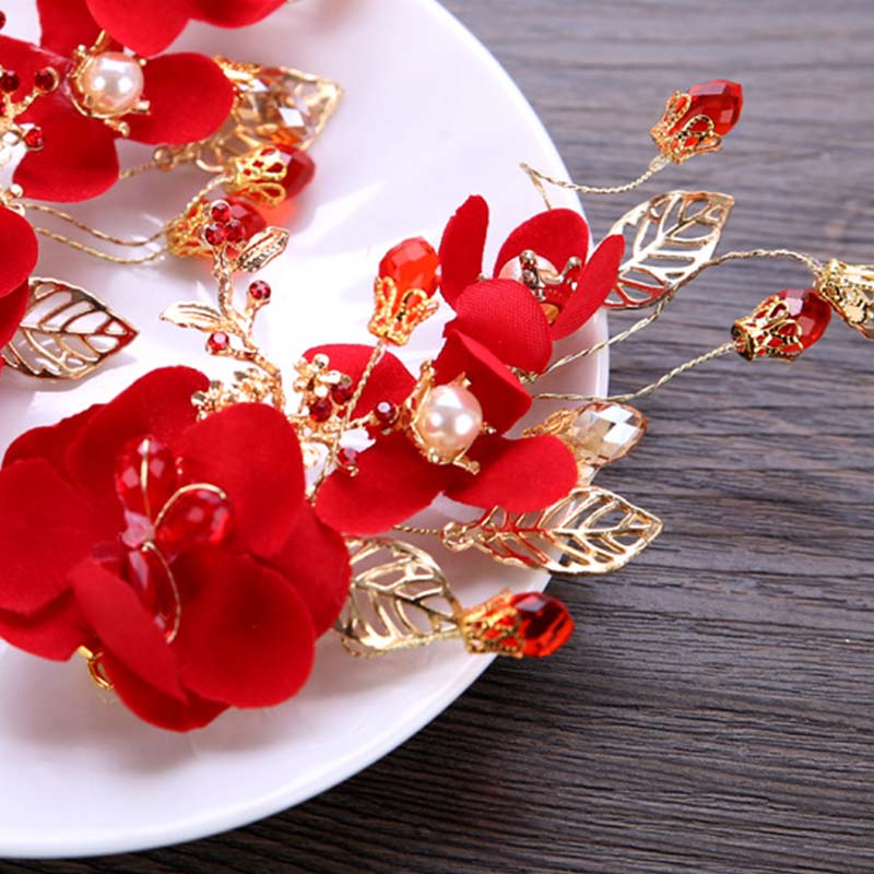 Brooches & Pins Costume Jewellery The Cheapest Price Women Rhinestone Red Rose Flower Brooch Pin Wedding Party Jewelry Gift Kindly