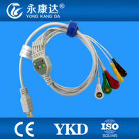 Compatible with Biox 5lead holter ecg cable IEC snap 19pin