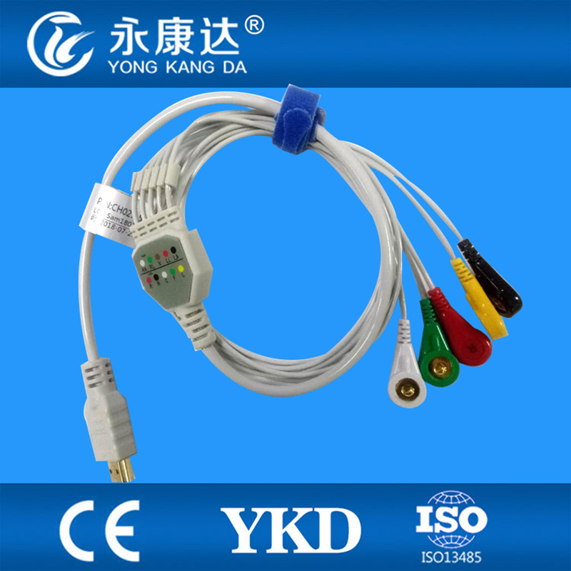 Compatible with Biox 5lead holter ecg cable IEC snap 19pinCompatible with Biox 5lead holter ecg cable IEC snap 19pin