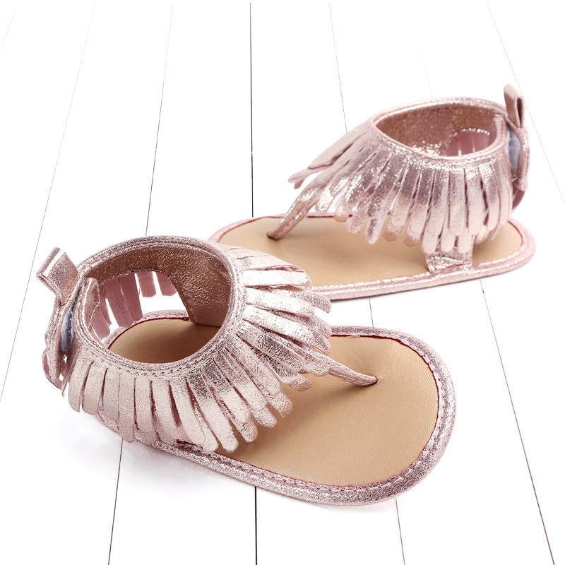 Baby comfortable sandals 2018 summer new boy girls beach shoes kids casual sandals children fashion Baby Girl Tassel Sandals (11)
