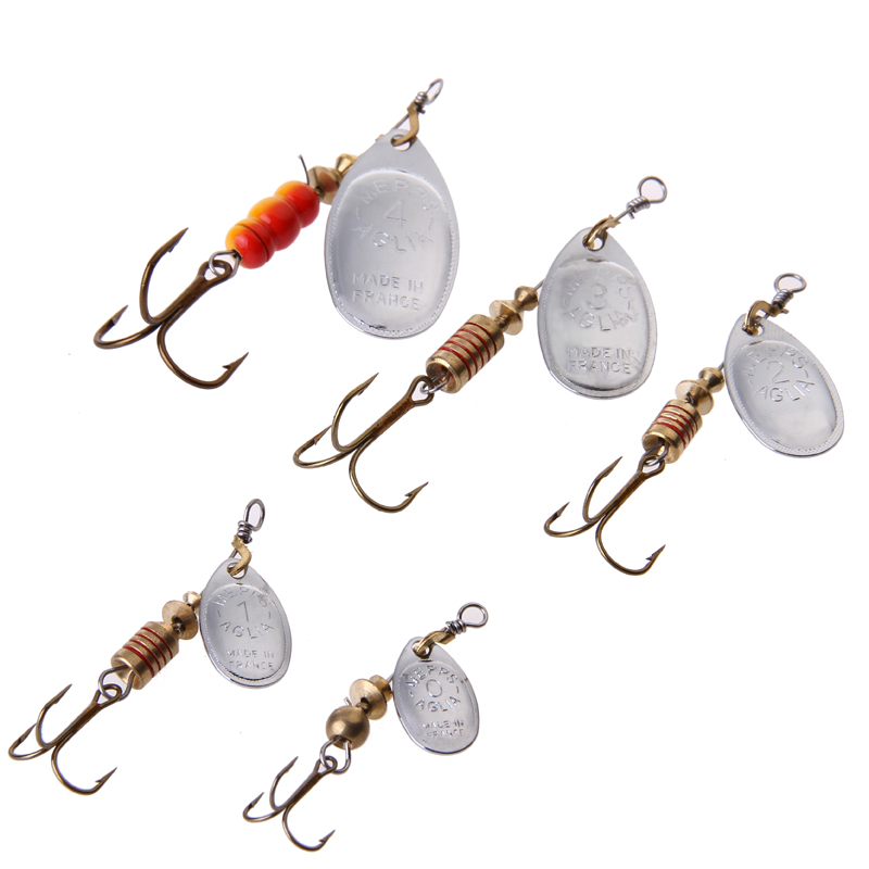 24pcs lot size1 size4 fishing hook mepps spinner fishing for Bulk fishing lures