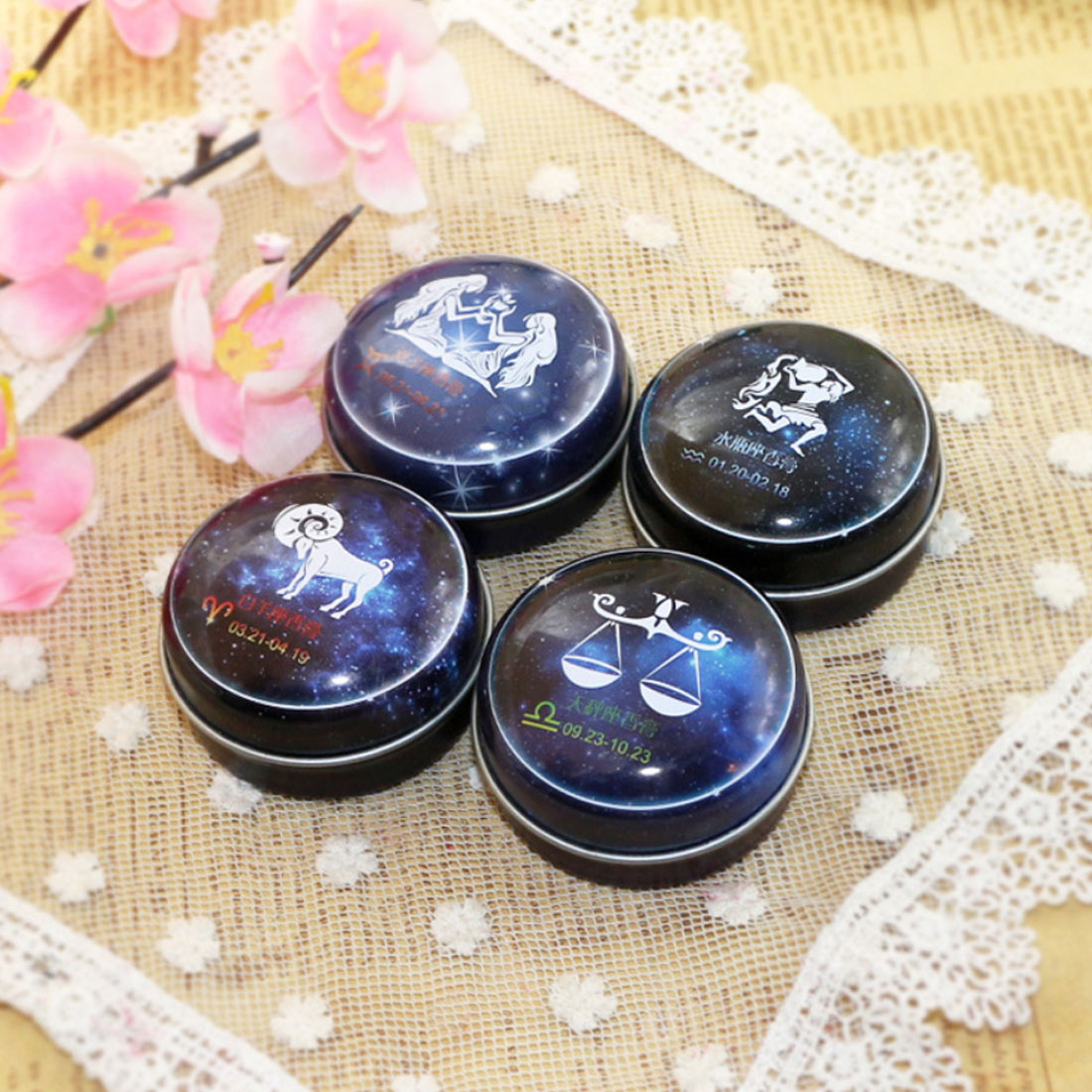 NEW Arrival 1 PC Unisex Magic Zodiac Fragrance 12 Signs Constellation Deodorant Perfumed Solid Portable Tin Box Balm