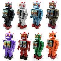 De Metal De ferro brinquedo Vento até brinquedos de metal do robô/carro/trem coleção Fotografia adereços presente de natal caminhada/rotativo/som