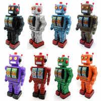 Sắt Kim Loại toy Gió lên đồ chơi kim loại robot/xe/train bộ sưu tập đạo cụ Chụp Ảnh món quà giáng sinh đi bộ/xoay/sound