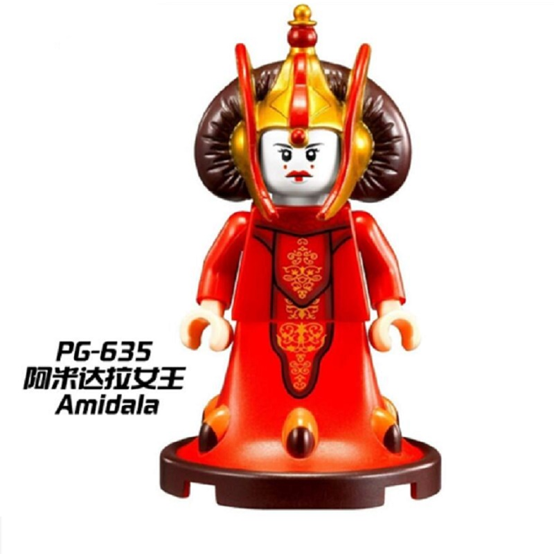 цены Super Heroes Amidala Mr. Gold Chromed Deadpool Captain America Darth Vader Bricks Model Building Blocks Children Gift Toys PG635