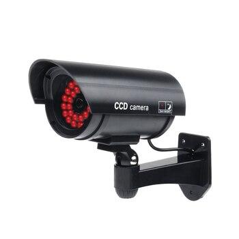 MOOL na zewnątrz fałszywe/Dummy bezpieczeństwo kamera z 30 LED światła oświetlające (czarny) nadzoru CCTV