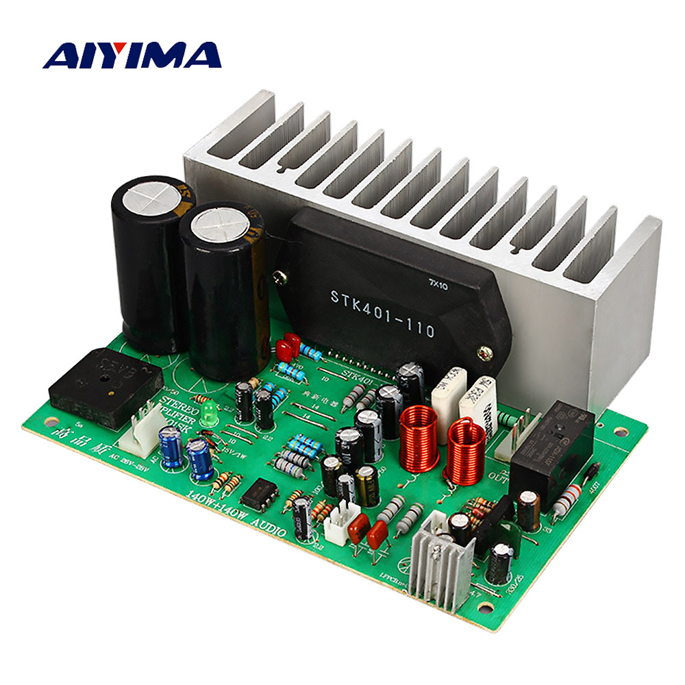 AIYIMA STK401 Audio <font><b>Amplifier</b></font> Board Amp 140W*2 <font><b>HIFI</b></font> 2.0 Channel High Power <font><b>Amplifier</b></font> AC24-28V Home Theater Diy image