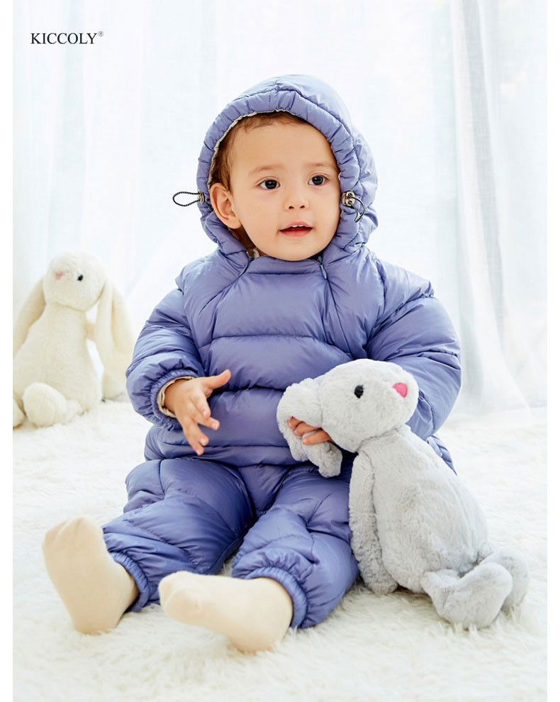 KICCOLY 2018 New Baby Rompers Winter Baby Boy Girls Clothes Cotton Newborn Toddler Clothes Infant Jumpsuits Born Warm Clothing цена