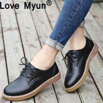 2fdd76315 Moda Oxford Cuero Casual Mocasines Ghn77 2018 Mujer Sapatilhas Zapatos De  qp44xw6Xv