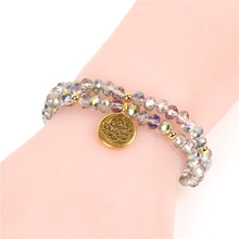 цена на Trendy Lotus Yoga Buddha Bracelets Women Handmade Multi-Layer Beaded Bracelet Women Girl  Friendship Wedding Jewelry Pulsera