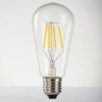 ST64 LED retro Edison bulbE27 220V 8W creative decorative glass nipple type living room long decoration led cob neon sign light