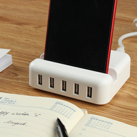 Ngansek בריטניה Plug-Dock תחנה עבור iPhone 7 תוספת 6 6 s בתוספת 5 יציאות מתאם מתח מטען מחזיק מעמד טעינת מכשיר