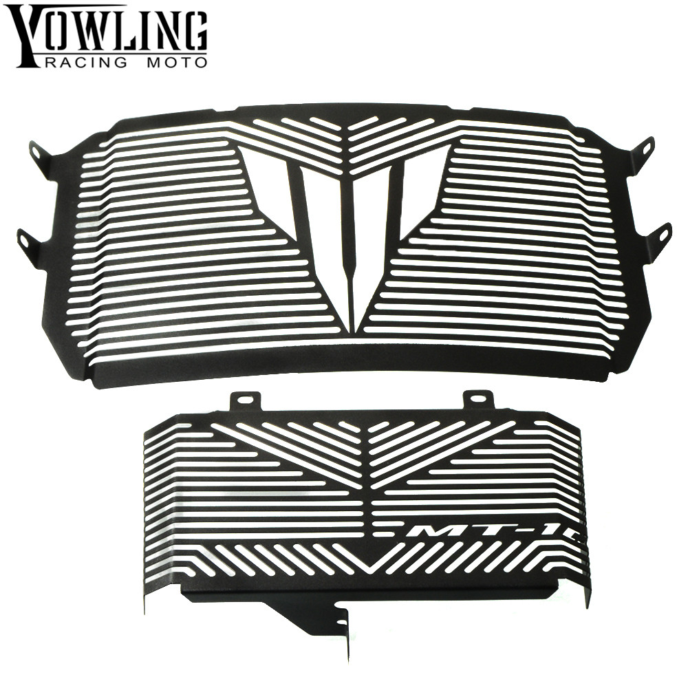 Black Motorcycle Accessories Radiator Guard Protector Grille Grill Cover For YAMAHA MT10 MT-10 MT 10 2016-2017 Free shippingBlack Motorcycle Accessories Radiator Guard Protector Grille Grill Cover For YAMAHA MT10 MT-10 MT 10 2016-2017 Free shipping
