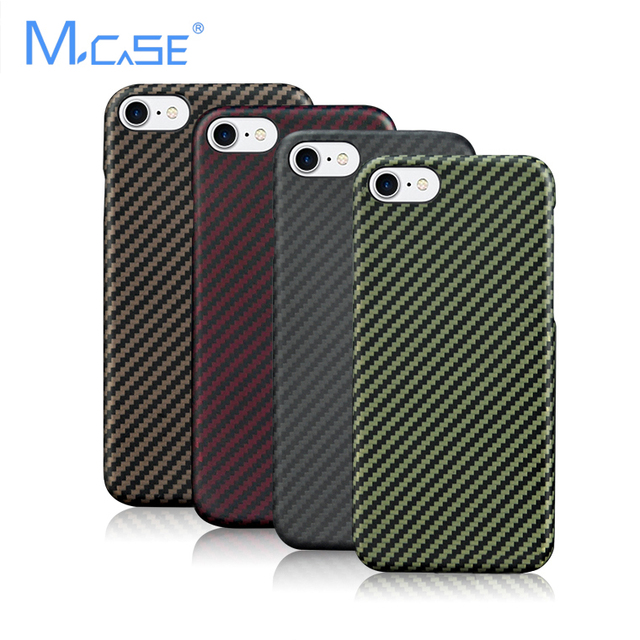 New Arrival Mcase  Deluxe Ultra Thin Colorful Aramid Fiber Case Cover For iPhone 7 7 Plus Fibre Cover Cases