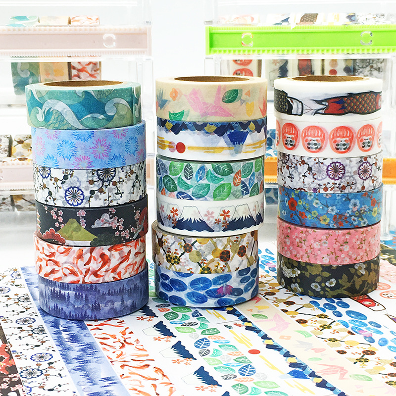 2017 New 5x Japanese Washi Tape Stationery DIY Masking Washi Tape Nippon Culture for Scrapbooking Tools Office Adhesive Tape 10M japanese style washi tape cute cat and flowers diy scrapbooking diary decor paper stickers planet masking tape kawaii stationery