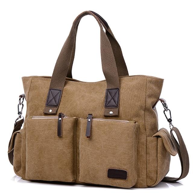 2018 Casual Men Handbag Man Canvas Bags Business Computer Laptop Tote Bag S Crossbody Shoulder