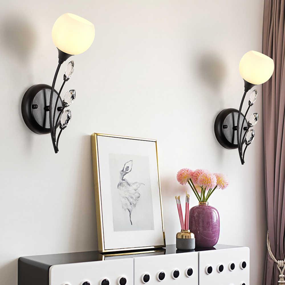 Современные G9 Винтаж Crystal Led крепления настенного светильника для лестницы Спальня Ванная комната домашнего освещения