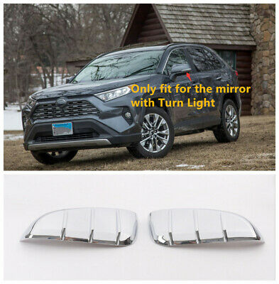ABS Chrome Rearview Side Mirror Cover Trim 2pcs For Toyota RAV4 2019   2020|Chromium Styling|Automobiles & Motorcycles -