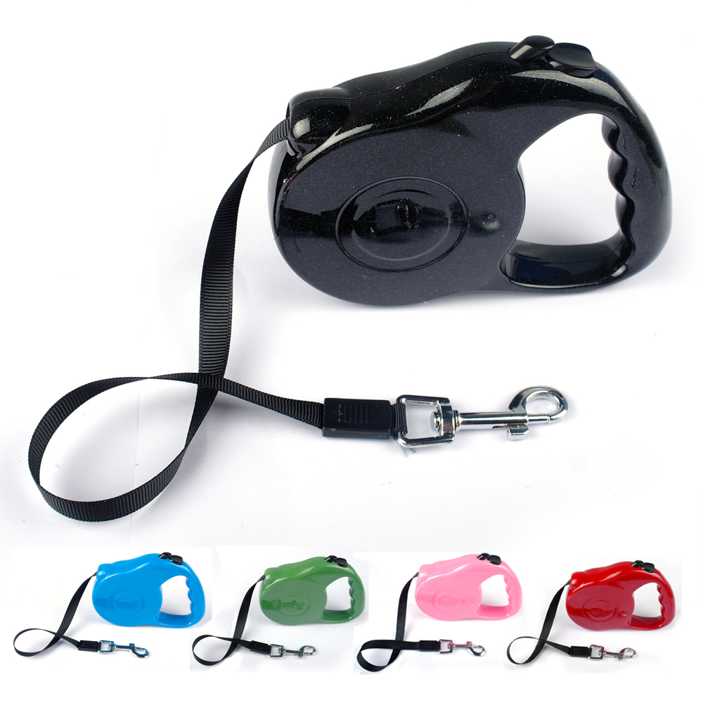 Colorful Extending Dog Leash Puppy Retractable Walking Leads 3M 5M for Small Puppy Dogs